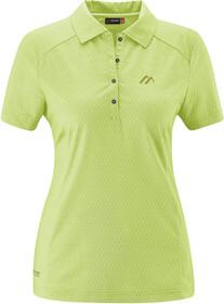Maier Sports Pandy Polo Shirt Women, lightgreen allover